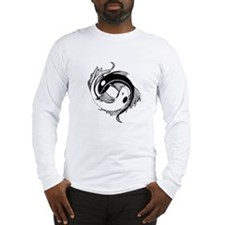 Tribal Yin Yang Fish Long Sleeve T-Shirt