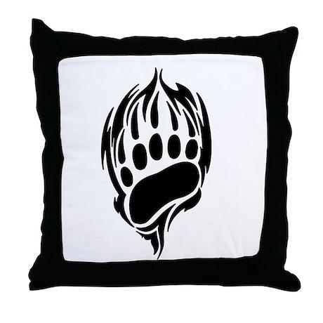 Tribal Bear Claw Throw Pillow