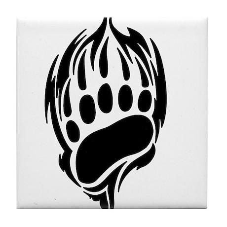 Tribal Bear Claw Tile Coaster