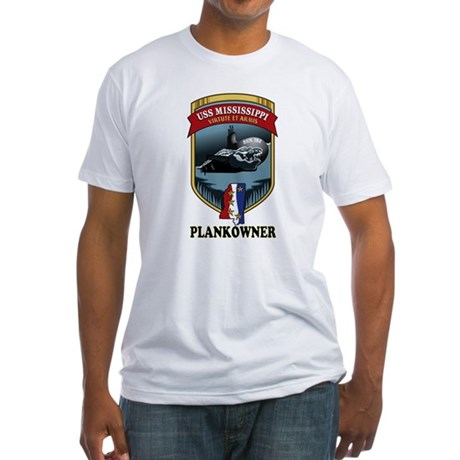 PLANKOWNER SSN 782 Fitted T-Shirt
