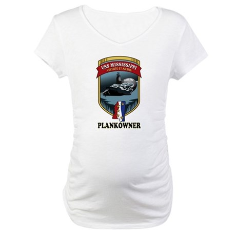 PLANKOWNER SSN 782 Maternity T-Shirt