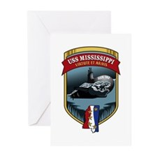 USS Mississippi SSN 782 Greeting Cards (Pk of 10)
