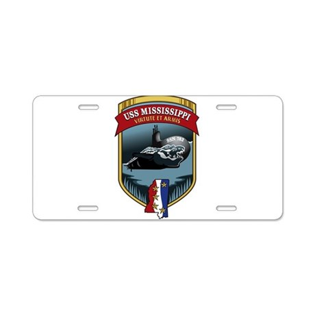 USS Mississippi SSN 782 Aluminum License Plate
