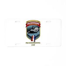 SSN 782 PCU Aluminum License Plate