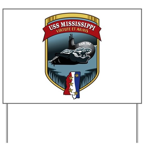 USS Mississippi SSN 782 Yard Sign