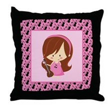 Violin Music Gift For Girls Throw Pillow