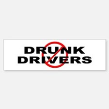 Anti / No Drunk Drivers Sticker (Bumper)