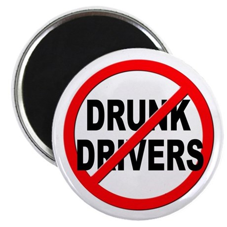 Anti / No Drunk Drivers Magnet