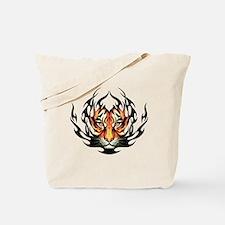 Tribal Flame Tiger Tote Bag