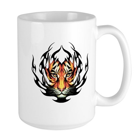Tribal Flame Tiger Large Mug