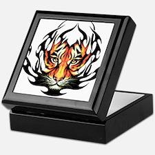 Tribal Flame Tiger Keepsake Box