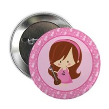 "Violinist Girl Music 2.25"" Button"