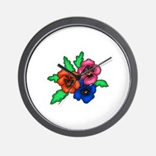 Pansy Trio1 Wall Clock