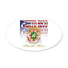 Puerto Rican pride Oval Car Magnet