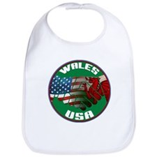 Wales USA Friendship Bib