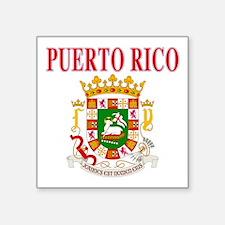 """Puerto Rican pride Square Sticker 3"""" x 3"""""""