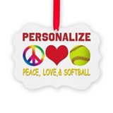 Softball Picture Frame Ornaments