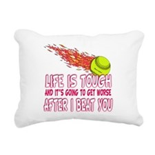 life is better.png Rectangular Canvas Pillow