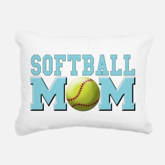 softball mom(white).png Rectangular Canvas Pillow