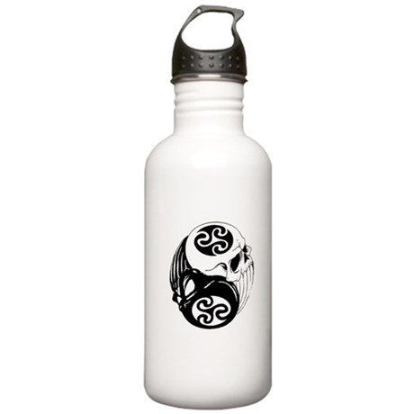 Tribal Skulls Yin Yang Stainless Water Bottle 1.0L