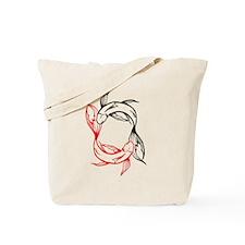 Tribal Yin Yang Koi Pisces Tote Bag