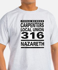 Carpenters Local Union 316 Ash Grey T-Shirt
