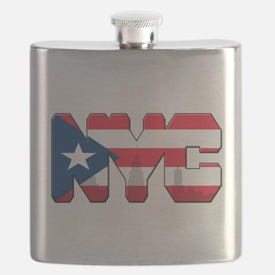 New York Puerto Rican Flask