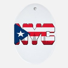 New York Puerto Rican Ornament (Oval)