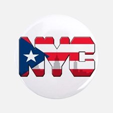 "New York Puerto Rican 3.5"" Button"