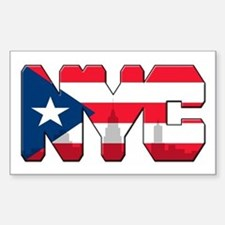 New York Puerto Rican Stickers