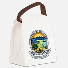 Alaska Seal.png Canvas Lunch Bag