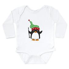 Christmas Music Penguin Long Sleeve Infant Bodysui