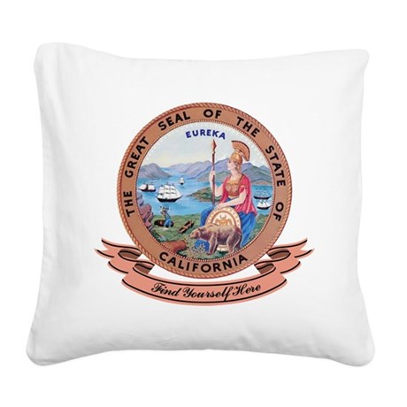 California Seal.png Square Canvas Pillow