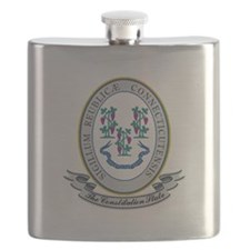 Connecticut Seal.png Flask