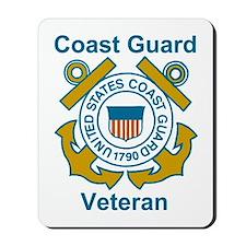 Coast Guard Veteran Shield Mousepad