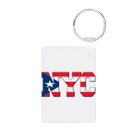 New York Puerto Rican Aluminum Photo Keychain