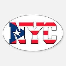 New York Puerto Rican Sticker (Oval)