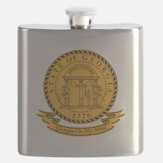 Georgia Seal.png Flask