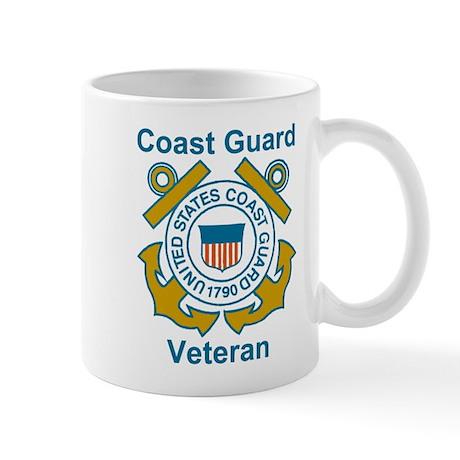 Coast Guard Veteran Shield Coffee Cup