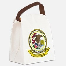 Illinois Seal.png Canvas Lunch Bag