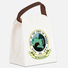 Indiana Seal.png Canvas Lunch Bag