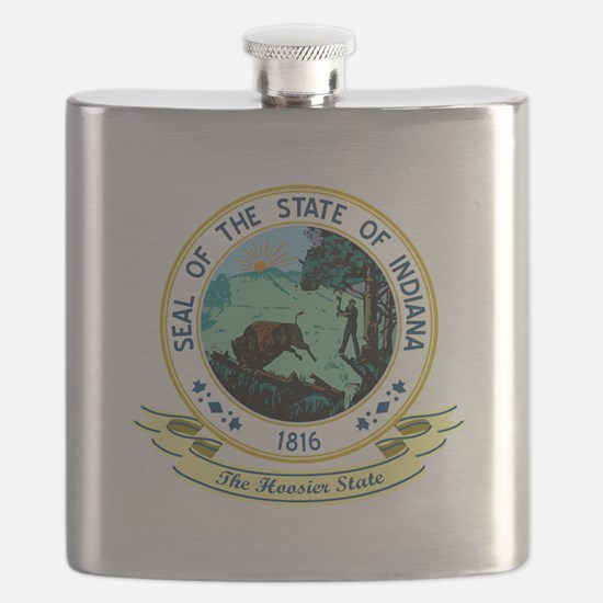 Indiana Seal.png Flask