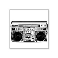 "BOOM BOX OLD SCHOOL Square Sticker 3"" x 3"""