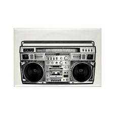BOOM BOX OLD SCHOOL Rectangle Magnet