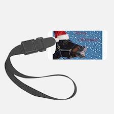 Fun Christmas Horse Luggage Tag