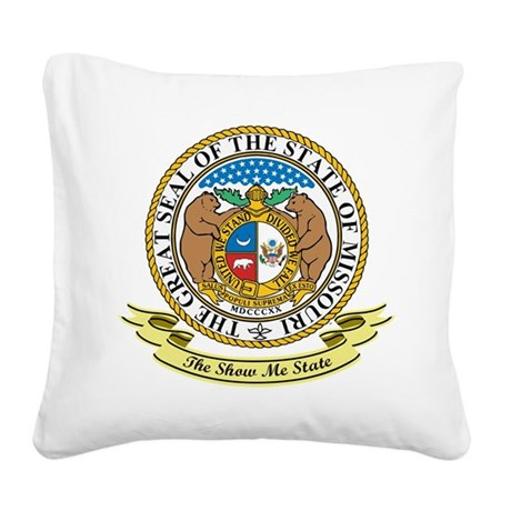 Missouri Seal.png Square Canvas Pillow