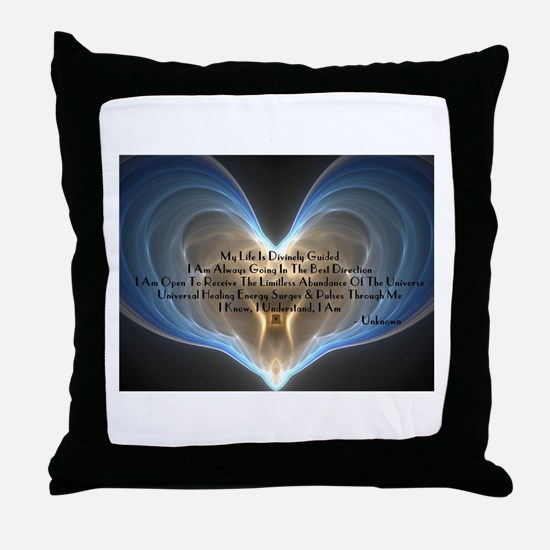Divinely Guided Abundance Throw Pillow
