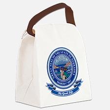 Nebraska Seal.png Canvas Lunch Bag