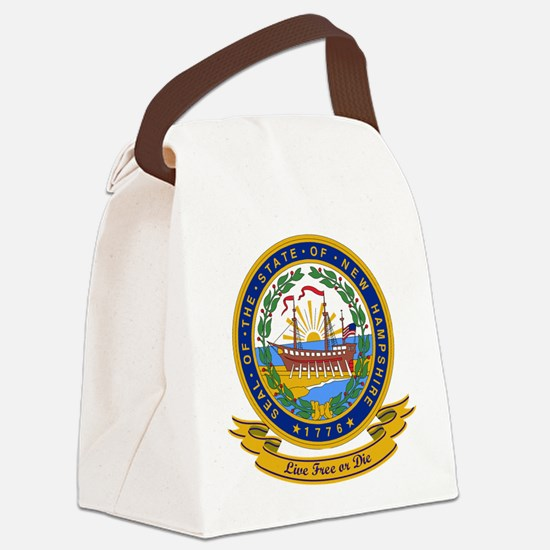 New Hampshire Seal.png Canvas Lunch Bag