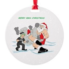 MMA Santa Vs Snowmonster Ornament